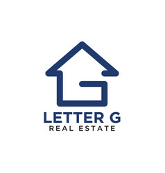 initial letter g home real estate logo design vector image