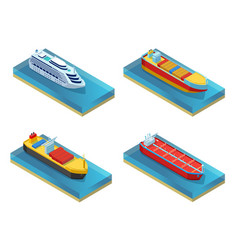Isometric water transport set vector