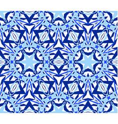 Kaleidoscopic seamless pattern blue vector
