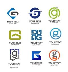 Letter g logo set vector