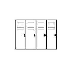 lockers icon vector image