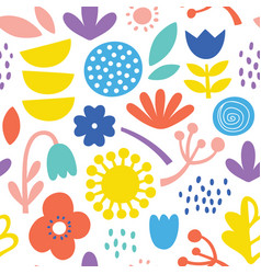 lovely minimal scandinavian cute colorful vector image