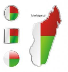 madagascar vector image