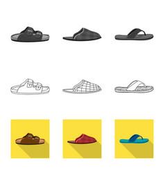 Man and foot symbol set of vector