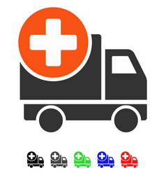 Medical delivery flat icon vector