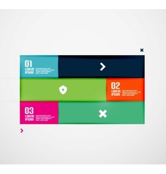 Modern minimal infographics vector image