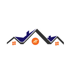 Modern real estate and property logo design and ho vector