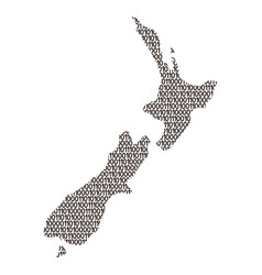 new zealand map abstract schematic from black vector image