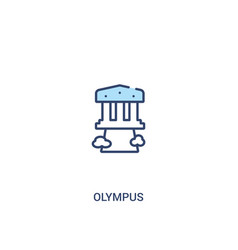 Olympus concept 2 colored icon simple line vector