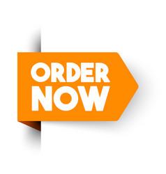 Order now label for web shop vector