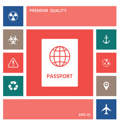 Passport icon symbol elements for your design vector