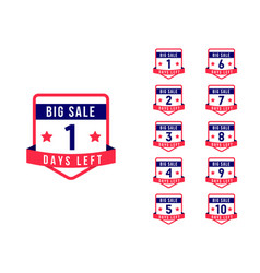sale days left vector image