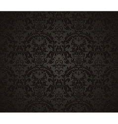 Seamless wallpaper pattern black vector image