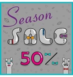 Season Sale Fifty percents vector