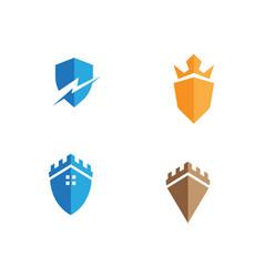 Security guard logo design shield vector
