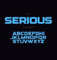 serious bold alphabet concept for headline logo vector image