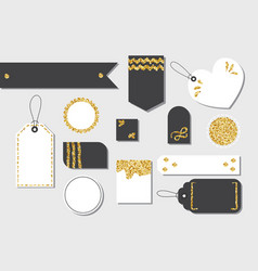set blank isolated gift box tags or sale vector image