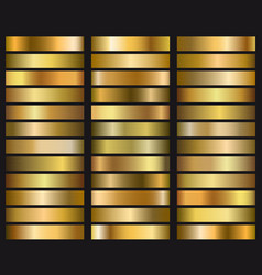 set gold gradient texture vector image