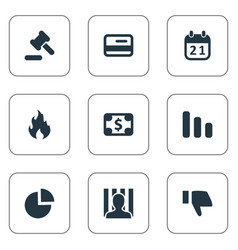 Set of simple situation icons vector