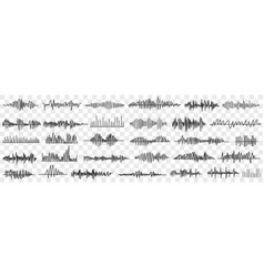 sound and voice recording doodle set vector image