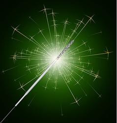 sparkler fire vector image