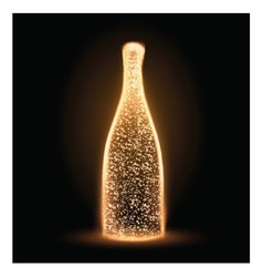 Sparkling bottle vector image