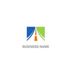 square arrow road logo vector image