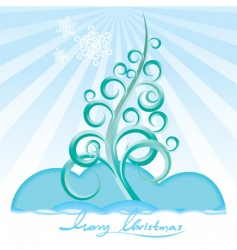 stylize Christmas tree vector image