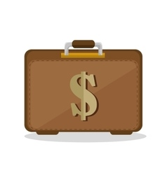 suitcase business save the money icon vector image