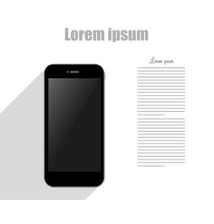 template phone flat style design technology vector image