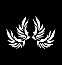 tribal wings tattoo and logo vector image