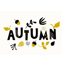 Typographic Autumn Design vector image