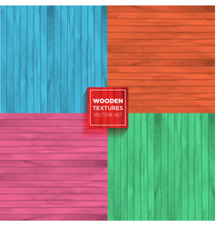 wood texture set color set of realistic vector image