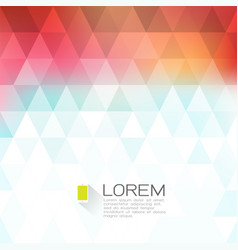 Colorful fade triangle background with white space vector