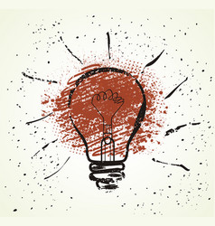 flat design light bulb icon with concept of idea vector image