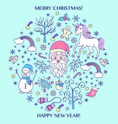 Colorful christmas card vector