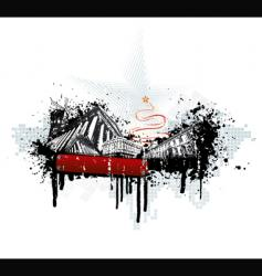 grunge urban Christmas vector image vector image