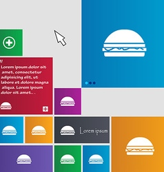 Hamburger icon sign buttons Modern interface vector image vector image