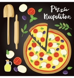 Neopolitan Pizza with vector image vector image