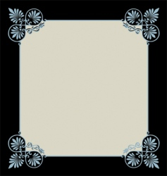 scrollwork border vector image vector image