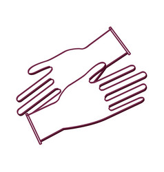 Silhouette medical latex gloves to protection vector