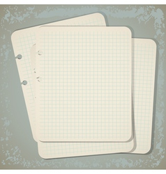 vintage notepad papers vector image vector image