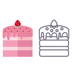 cake icon on isolated background vector image vector image