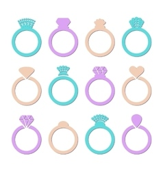 engagement or wedding ring vector image