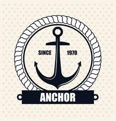 icon nautical label emblem isolated vector image