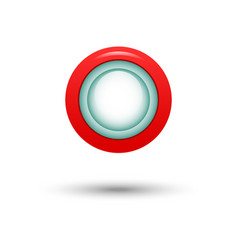 red button for website vector image