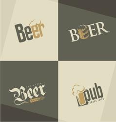 Set of beer logo design templates vector image vector image