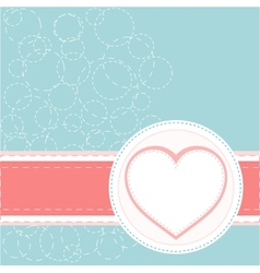 Valentines ornament with red love heart vector image