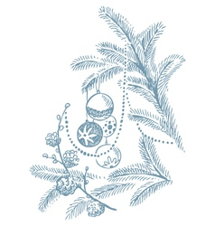 Christmas hand drawn vector image vector image