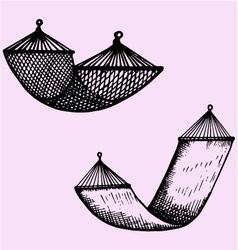 hammock vector image